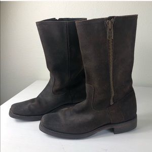 Frye Brown Suede Motorcycle boots 77281 Size 9.5